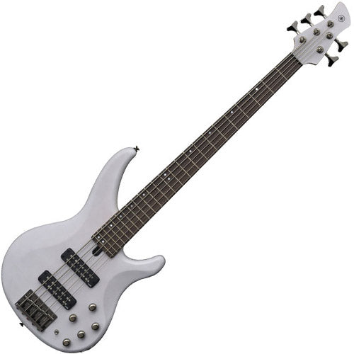 Yamaha TRBX505TWH TRBX Series 5 String Bass Guitar in Translucent White
