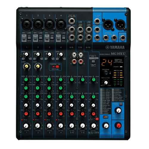 Yamaha MG10XU 10 Input Stereo Non Powered Mixer with SPX Effects and USB