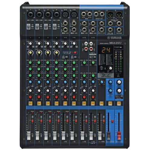 Yamaha MG12XU 12 Input 4 Bus Non Powered Mixer with SPX Effects and USB