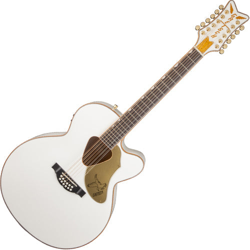 Gretsch Rancher Falcon Jumbo 12-String Cutaway Acoustic Electric in White - G5022CWFE-12