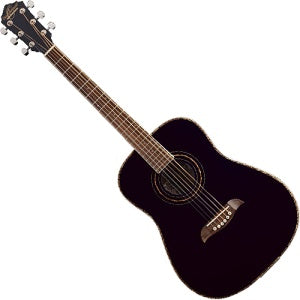 Oscar Schmidt OG1BLH Left Handed Acoustic Guitar in Black