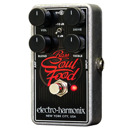 ElectroHarmonix BASSSOULFOOD Bass Soul Food Overdrive Effects Pedal