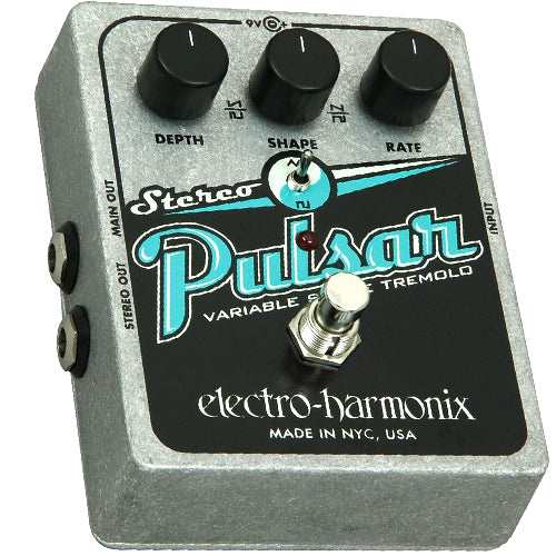ElectroHarmonix STEREOPULSAR Stereo Pulsar Analog Tremolo Effects Pedal