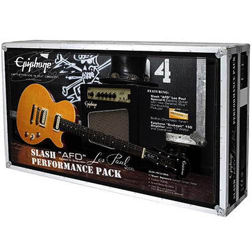 Epiphone ELPJSLNHPRP Slash AFD Les Paul Specia lII Electric Guitar Performance Pack