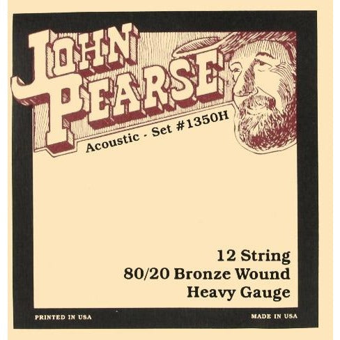 John Pearse 1350H 12 String Acoustic Strings - Guitar 80/20 Bronze Wound