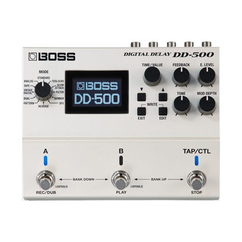 Boss DD500 Digital Delay Effects Pedal with Phrase Looper Effects Pedal
