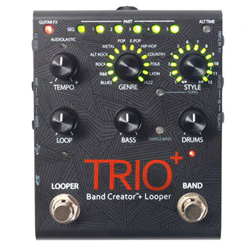 Digitech TRIOPLUS Trio Plus Band Creator and Looper Effects Pedal