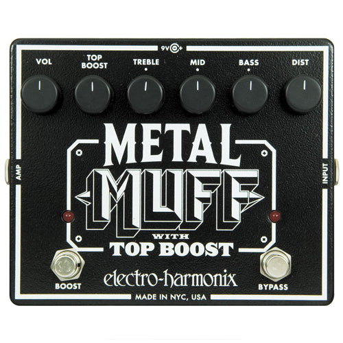 ElectroHarmonix METALMUFF Metal Muff Distortion with Top Boost Effects Pedal