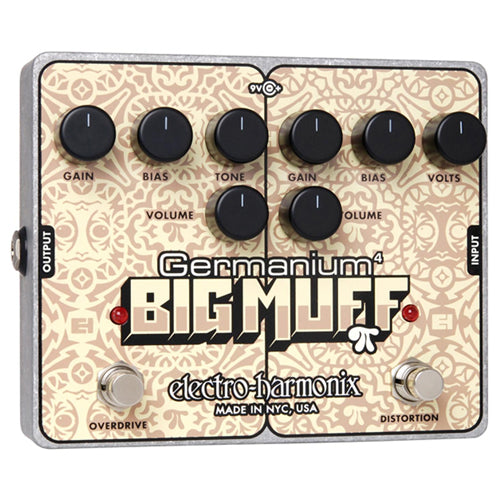 ElectroHarmonix GERM4BIGMUFFPI Germanium 4 Big Muff PI Overdrive and Distortion Effects Pedal