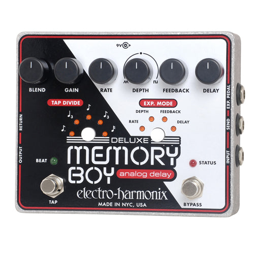 ElectroHarmonix DLXMEMORYBOY Tap Tempo Analog Delay Effects Pedal