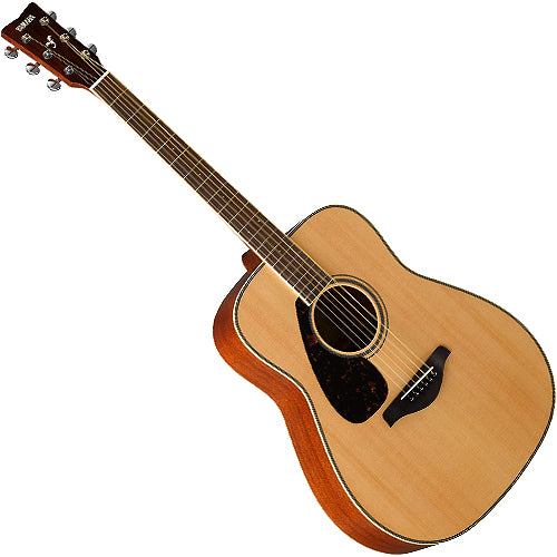 Yamaha FG820L Left Handed Acoustic Guitar Solid Spruce Top in Natural