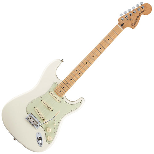 Fender 0147302305 Deluxe Roadhouse Stratocaster Electric Guitar Maple in Olympic White