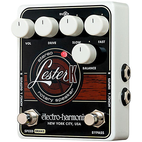 ElectroHarmonix LESTER K Stereo Rotary Speaker Effects Pedal