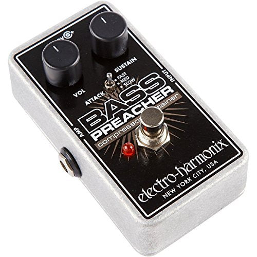 ElectroHarmonix BASS PREACHER Bass Compressor Sustainer Effects Pedal