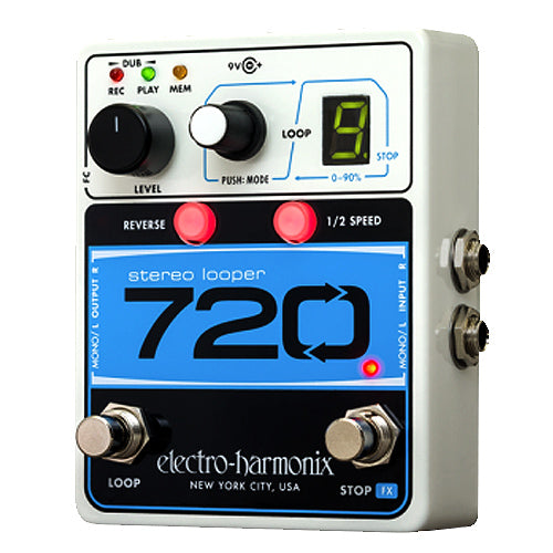 ElectroHarmonix 720STEREOLOOPER 720 Stereo Looper Effects Pedal