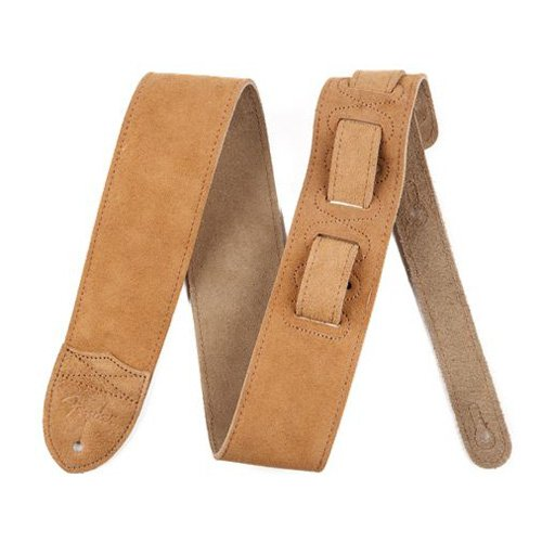 "Fender 0990692002 ""F"" Logo Suede Guitar Strap in Tan"