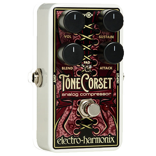 ElectroHarmonix TONECORSET Sustainer Compressor Effects Pedal