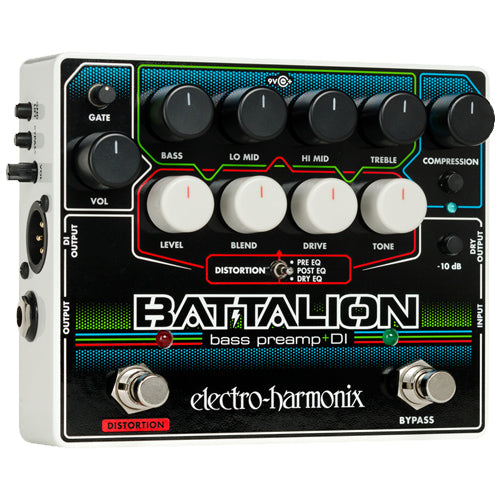 ElectroHarmonix BATTALION Bass Guitar Preamp Effects Pedal