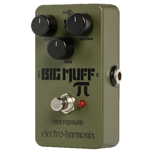 ElectroHarmonix GREENRUSSIAN Green Russian Big Muff Distortion Effects Pedal