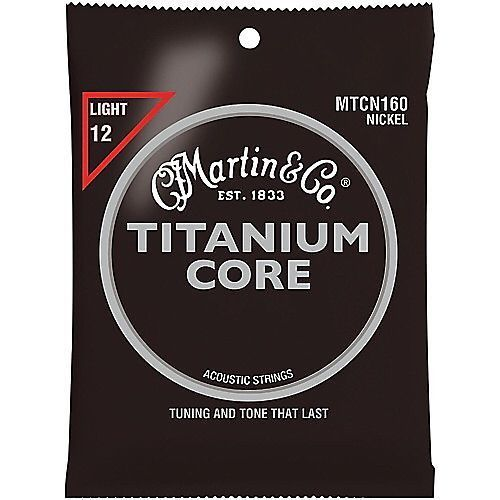 Martin MTCN160 Titanium Core Acoustic Guitar Strings Light Gauge