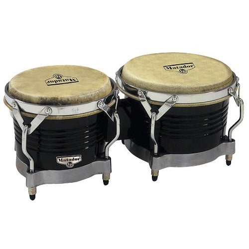 Latin Percussion Matador Bongos Black Chrome Finish - M201BKWC