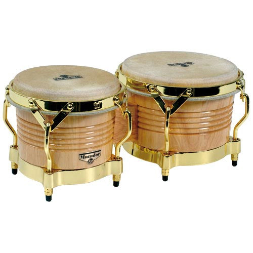Latin Percussion Matador Wood Bongos Natural - M201AW
