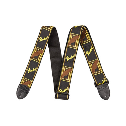 Fender 0990681000 Guitar Strap in Black Yellow and Brown