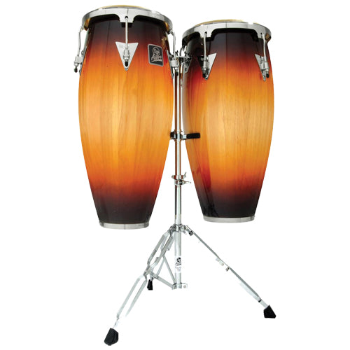 Latin Percussion Aspire Conga Set w/ Stand in Vintage Sunburst - LPA646VSB