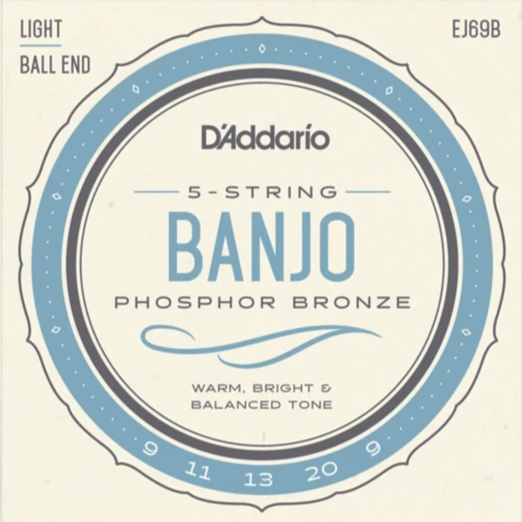 D'Addario EJ69B Ball End 5 String Banjo Strings