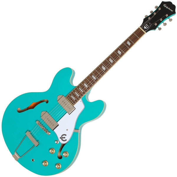 Epiphone Casino Hollow Body Electric Guitar in Turquoise - ETCATQCH
