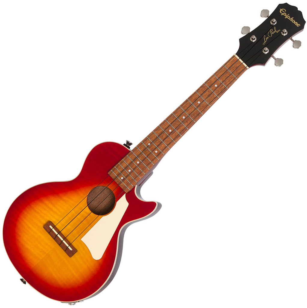 Epiphone Tenor Les Paul Electric Ukulele in Cherry Sunburst with Bag - EUKTLPHSNH