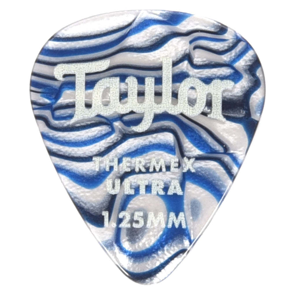 Taylor 80727 Premium Darktone 351 Thermex UItra Picks Blue Swirl 1.25mm  - 6 pack