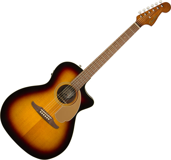 Fender Newporter Player Cutaway Acoustic Electric in Sunburst - 0970743003