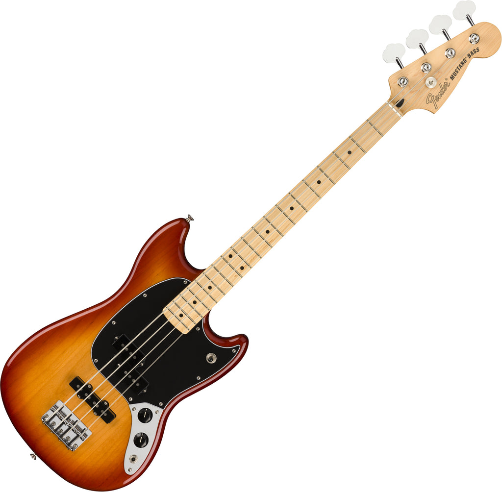 Fender Offset Mustang PJ Bass Guitar Maple Fingerboard in Sienna Sunburst - 0144052547