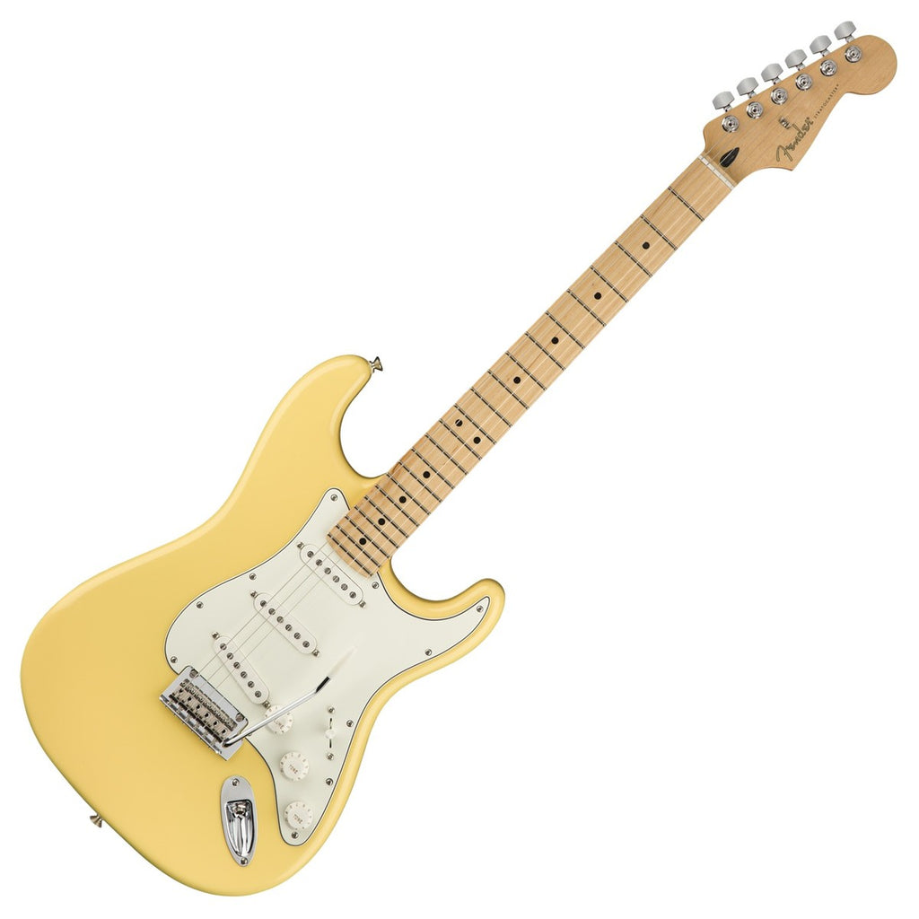 Fender 0144502534 Player Stratocaster Electric Guitar Maple Neck in Buttercream