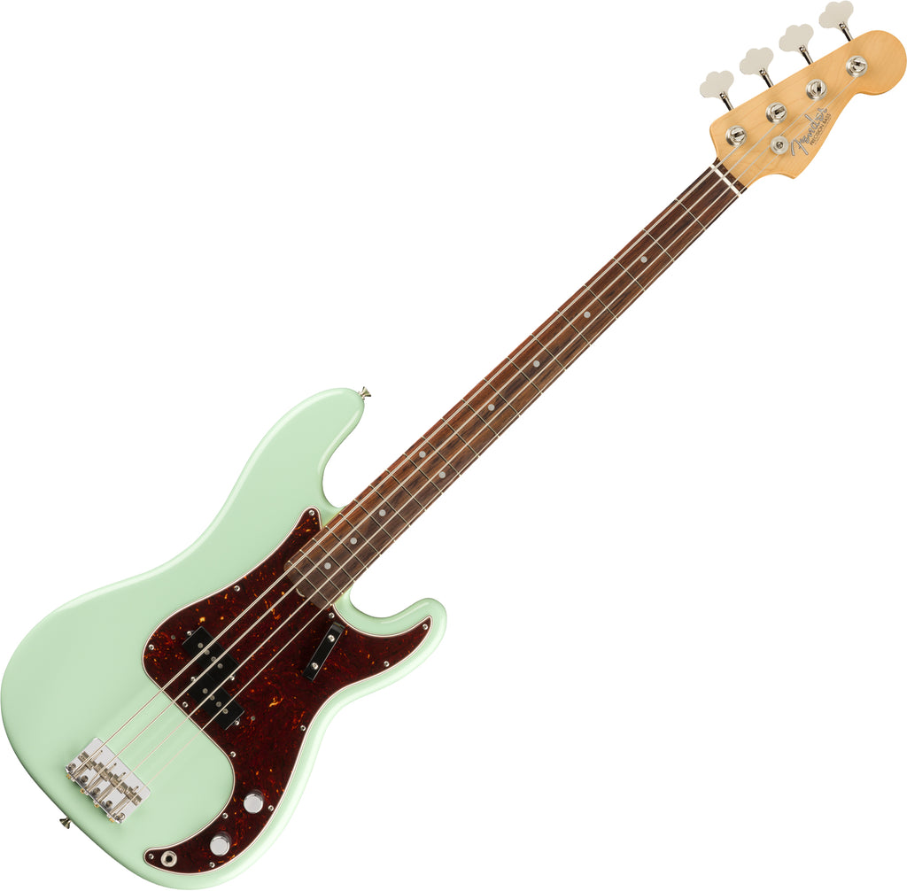 Fender American Original 60s Precision Bass Guitar Rosewood in Surf Green w/Case - 0190120857