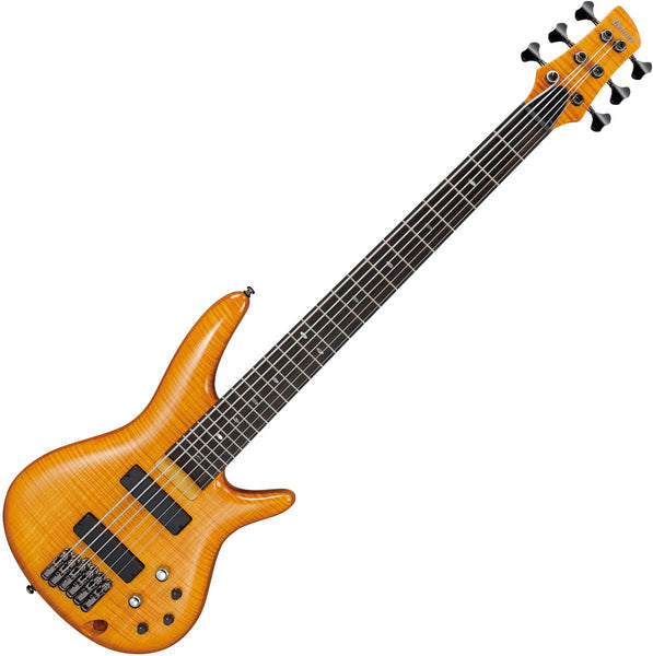 Ibanez GVB36AM Gerald Veasley Signature 6 String Bass Guitar in Amber
