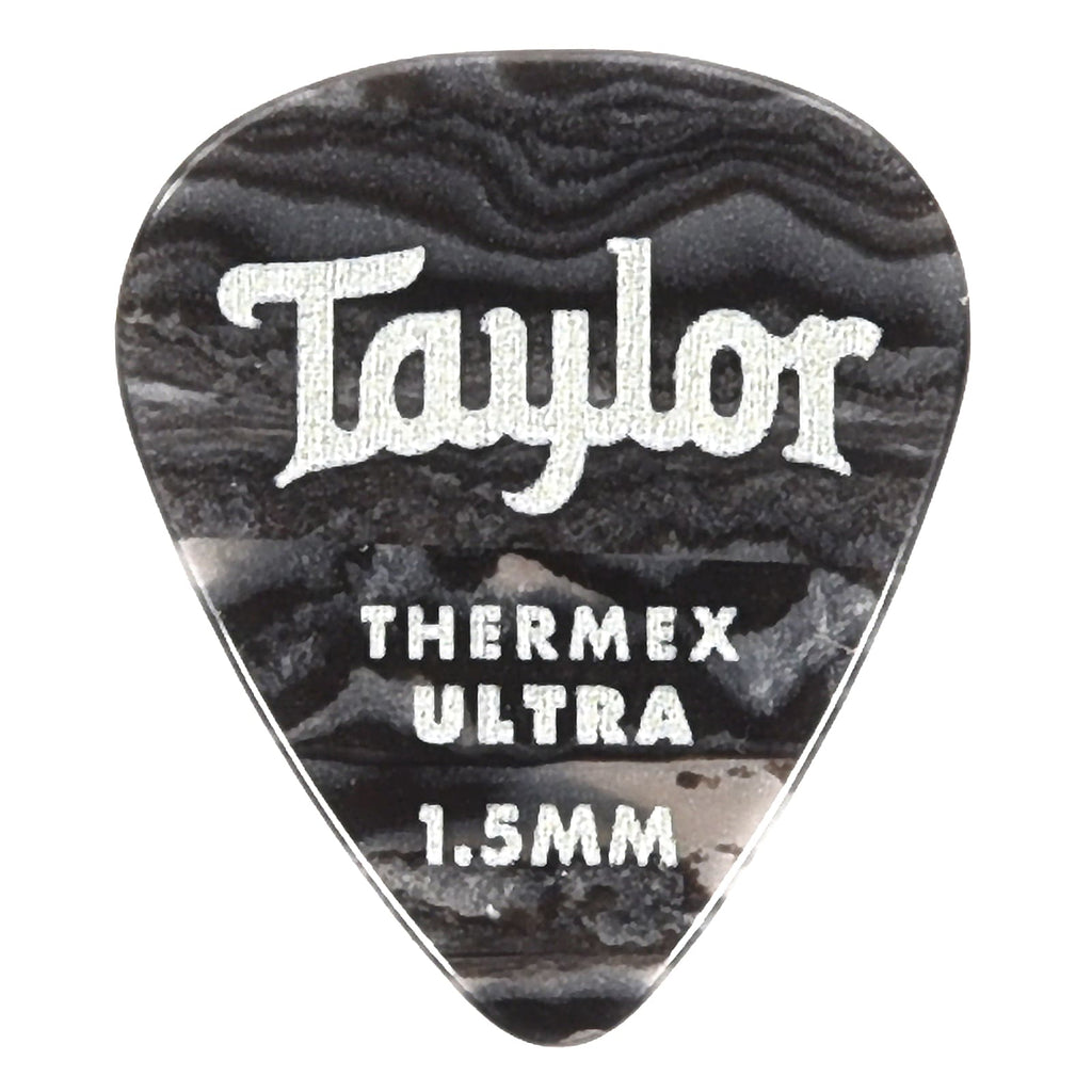 Taylor 80718 Premium Darktone 351 Thermex UItra Picks Black Onyx 1.5mm  - 6 pack