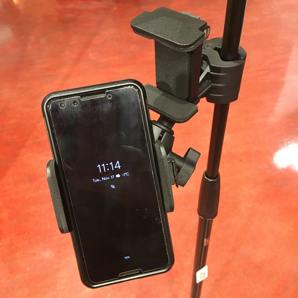 Profile Cell Phone and Power Bank Holder For Mic Stands - PHH100