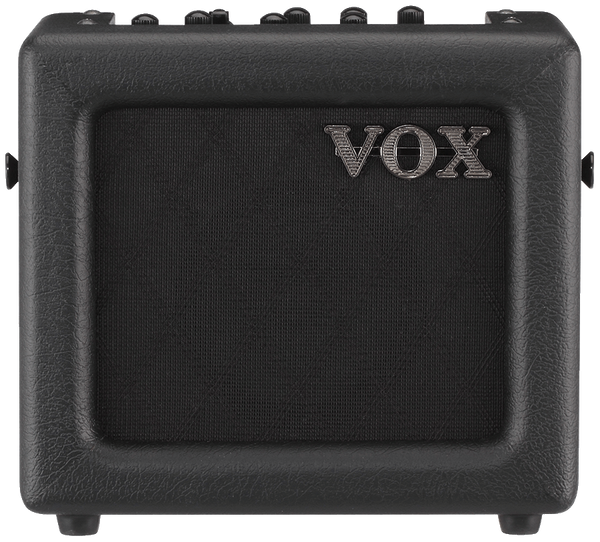 Vox 3W Busking Guitar amplifier 1x5 Speaker Modelling/Effects/Aux/Mic - Black - NOSMINI3G2