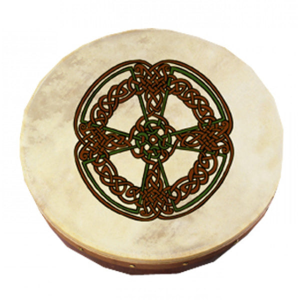 "Waltons 10AWAL2309 12"" Bodhran with Beater - Knotwork Cross"