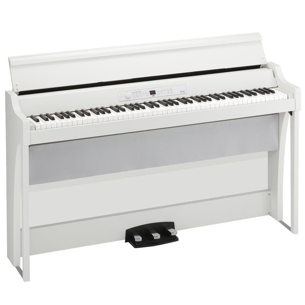 Korg G1BAIRWH 88-key RH3 Kronos based Concert Digital Piano w/Bluetooth Audio Playing, White,Bench Incl
