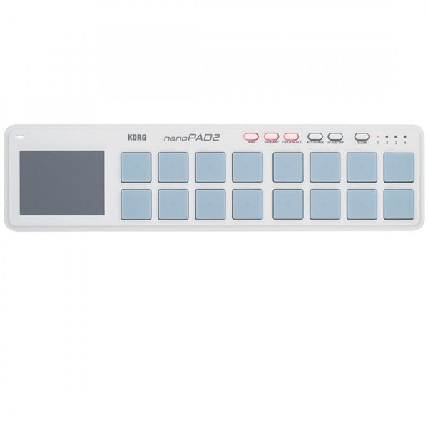 Korg NANOPAD2WH Percussion USB Controller in White