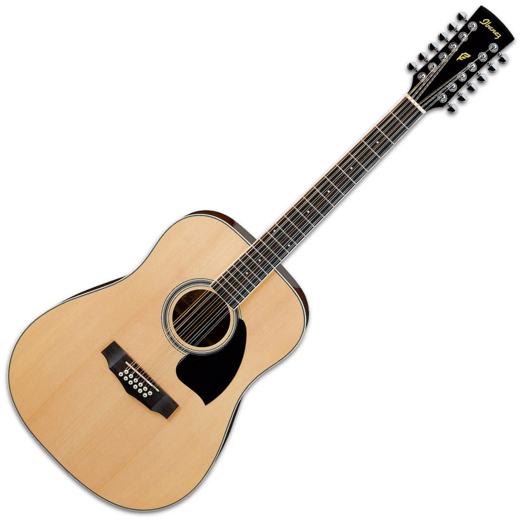 Ibanez Performance 12 String Acoustic Guitar Dreadnought in Natural High Gloss - PF1512NT