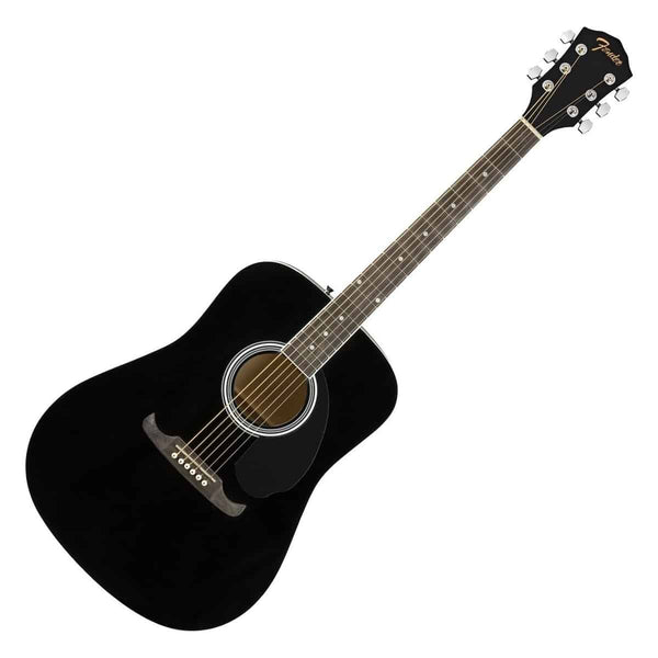 Fender FA-125 Dreadnought Acoustic Guitar in Black w/Bag - 971210706
