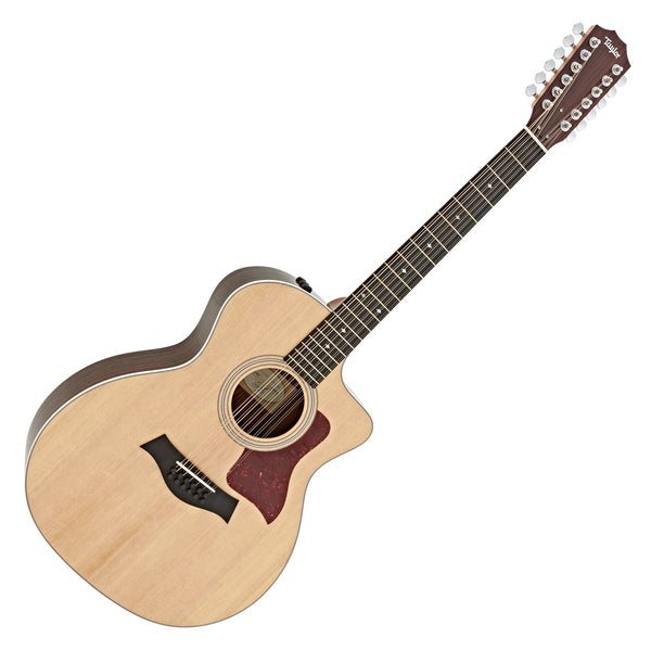 Taylor 254CE GA 12 String Cutaway Acoustic Electric Layered Rosewood Spruce Top with Bag