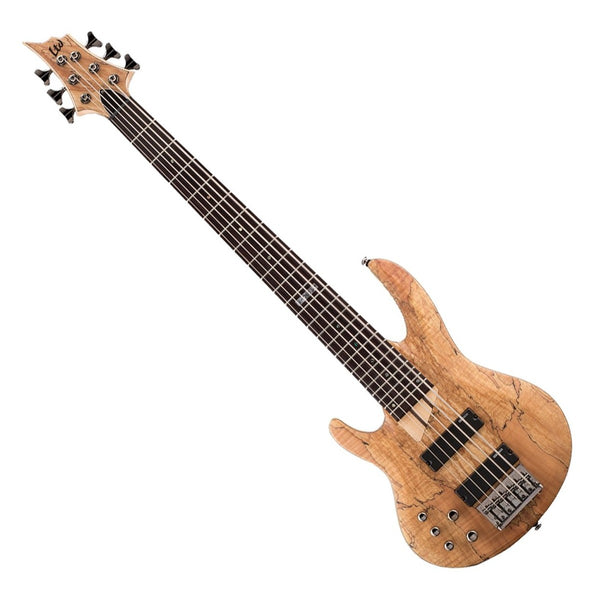 ESP LB206SMNSLH LTD B Series Left Handed 6 String Bass Guitar Spalted Maple in Natural Satin