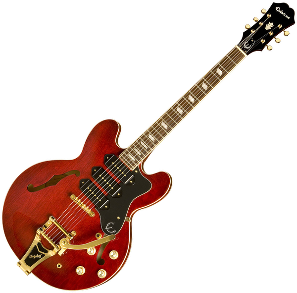 Epiphone Riviera Custom P-93 Hollow Body Electric Guitar in Wine Red - ETR3WRGB