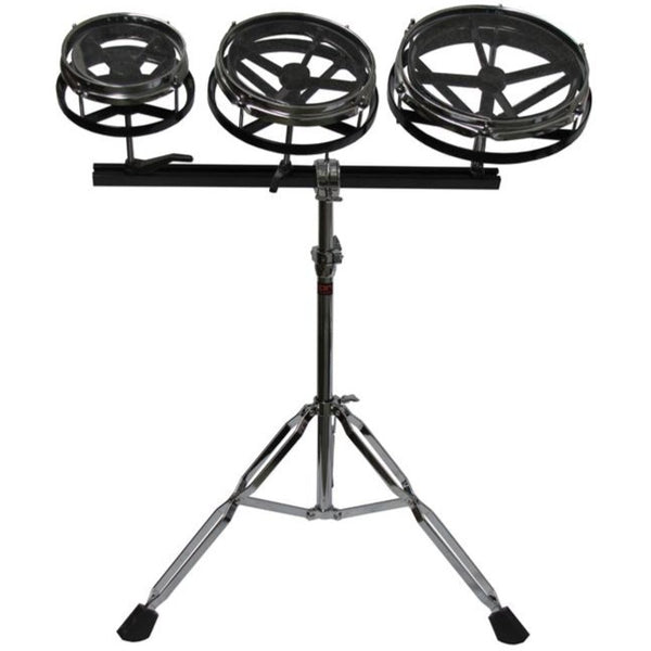Granite Percussion 10 inch 8 inch and 6 inch Roto Tom Set w/Stand - GPRTT1