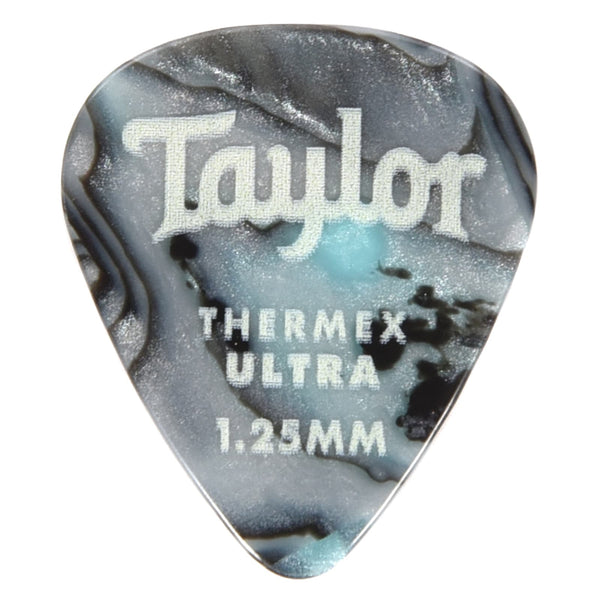 Taylor 80739 Premium Darktone 351 Thermex UItra Picks Abalone 1.25mm  - 6 pack